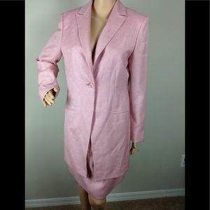Jones New York Pink Skirt Suit Sz 10 career Dressy